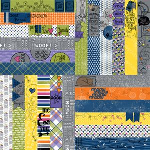 """Picture of Frightful & Furry by Lauren Hinds 2"""" Border Strips: Furry Pets - Set 12"""